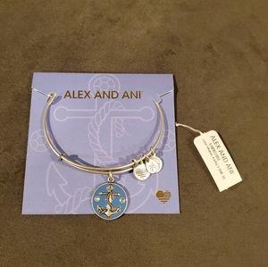 ALEX AND ANI Anchor Crystal Bracelet